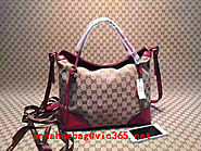Gucci Natural Bree Original Gg Canvas Top Handle tote Bag 353120 Red