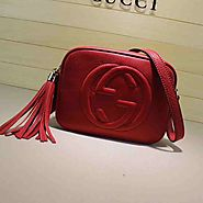 Gucci Soho leather disco bag 308364 red