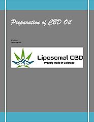 Preparation of cbd oil