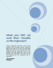What are cbd oil and their benefits in the organism