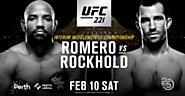 UFC 221: Romero vs Rockhold Live Stream (Pay-per-view) TV