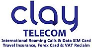 Website at https://www.claytelecom.com/international-roaming-sim-europe/