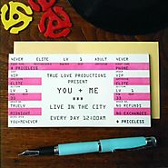 Concert Ticket Valentine's Day Card