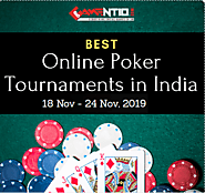 Best Online Poker Tournaments in India from 18 Nov - 24 Nov, 2019