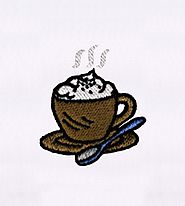 Cream Topped Frappuccino Coffee Embroidery Design | EMBMall