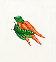 Delectable Carrot & Peas Embroidery Design | Machine Design | EMBMall