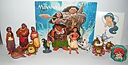 Disney Moana Movie Deluxe Party Favors Goody Bag Fillers Set with 12 Movie Figures, a Sparkle Ring and a Tattoo Sheet