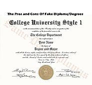 The Pros and Cons Of Fake Diploma/Degrees
