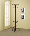 Coaster Home Furnishings 900821 Coat Rack with Umbrella Stand, Black