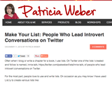 Make Your List: People Who Lead Introvert Conversations on Twitter