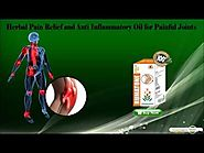 Herbal Pain Relief and Anti Inflammatory Oil for Painful Joints