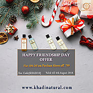 Khadi Natural Happy Friendship Day Offer