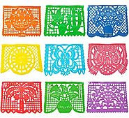 Papel Picado Plastic Banner (15 Feet Long) Mexican Papel Picado Banner Mexican Party Supplies, Coco party, Coco movie...