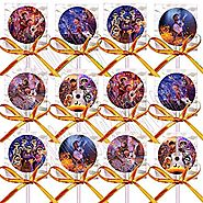 Coco Lollipops Disney Movie, Miguel, Hector Party Favors Supplies Decorations Lollipops with Orange Ribbon Bows Party...