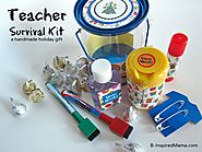 Teacher Survival Kit - Homemade Teacher Gifts - B-InspiredMama.com