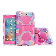 iPad Mini Case, ACEGUARDER Full Body Protective Rubber Cover (Impact Resistant) (Shockproof) (Scratchproof) with Scre...