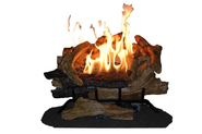 American Elm Fully Automatic Vent Free Gas Log Set, 24-Inch, Liquid Propane - Vent Free Gas Logs Remote Con...