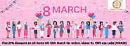 KHADI NATURAL DISCOUNT Women's Day Offers