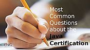5 Common Questions about the Java Certification Course