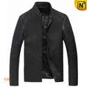 Black Italian Leather Jacket for Men CW804076