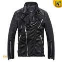 Italian Leather Motorcycle Jacket Men CW813119