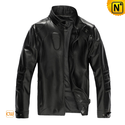 Fitted Italian Leather Jacket Black CW861510