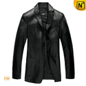 Italian Mens Leather Blazer Jacket CW840801