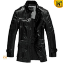 Mens Black Wilson Leather Jacket Coat CW833901