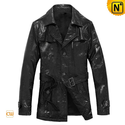 Mens Leather Duster Trench Coat CW874118