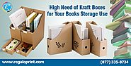 High Need of Kraft Boxes for Your Books Storage Use | Irene's Site