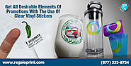 Get All Desirable Elements of Promotions with the Use of Clear Vinyl Stickers – Stickers Printing Service