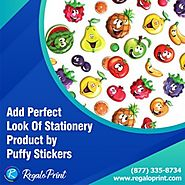Add Perfect Look of Stationery Product by Puffy Stickers
