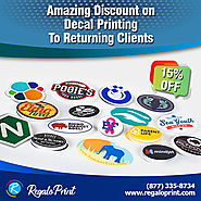 15% Discount on Decal Printing To Returning Clients | RegaloPrint