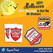 Happy Halloween 20% Discount Is Out for Custom Cheap Sticker| RegaloPrint - YourClassifieds.ca