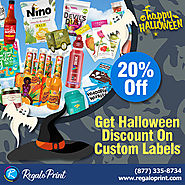 Get 20% Halloween Discount On Custom Labels | RegaloPrint