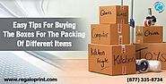 Easy Tips For Buying The Boxes For The Packing Of Different Items