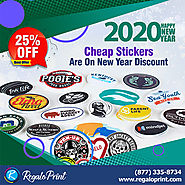 Cheap Stickers Are On 25% New Year Discount - RegaloPrint