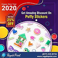Get 25% Amazing Discount On Puffy Stickers - RegaloPrint
