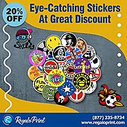 Eye-Catching Stickers At 20 Discount - RegaloPrint