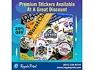 Premium Stickers Available At 20% Discount - RegaloPrint