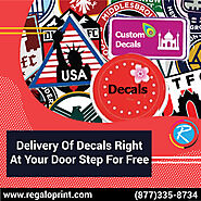 Delivery Of Decals Right At Your Door Step For Free - RegaloPrint