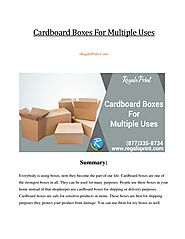Cardboard Boxes For Multiple Uses
