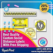 Best Quality Custom Social Distance Labels With Free Shipping – RegaloPrint