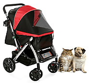 Double Cat Stroller For Dog and Cat | PetRover USA