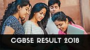 CGBSE Result 2018, CGBSE 10th & 12th Result 2018, CG Board Result