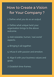 Create a Vision for Your Company