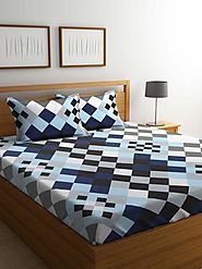 Buy Online Mafatlal Multi Color Cotton 144 TC Double Bed Sheet With Pillow Covers – mafatlalonline
