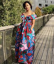 Look Slimmer in African Print Maxi Skirts