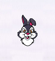 Rabbit Applique Embroidery Design | Machine Design | EMBMall