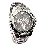 Rosra Round Dial Silver Mens Watch at best price – Shopclues